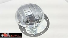 "10 bolt polished aluminum differential rear end cover Chevy 8.5 8 1/2"" car truck"