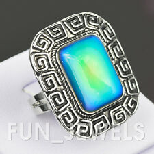 New Awesome Vintage Square Mood Ring Multi Colored Change Retro Free Color Chart