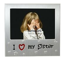 I Love My Sister Photo Picture Frame Birthday Christmas Little Younger Gifts