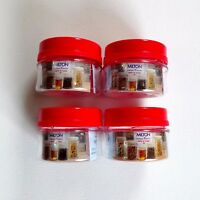 50ml Pet Plastic Clear Jar With Red Screw Lid Cosmetic Cream Food Spices Storage
