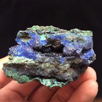 122g Natural Blue Azurite & Malachite Display Mineral Specimen China ZX041