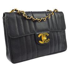 CHANEL Jumbo CC Mademoiselle Chain Shoulder Bag BK Caviar Skin 2772784 BA01700k