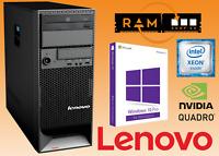 Lenovo S20 PC Win10 4-8 Core Xeon 4-8-12GB RAM 320GB-500GB-1TB HDD Quadro 450