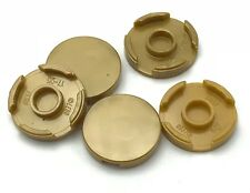 Lego 5 New Pearl Gold Tiles Round 2 x 2 with Bottom Stud Holder Pieces