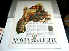 Noma Lights Advertisements – 1928 – Set of 2