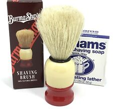 Burma-Shave Shaving Brush 100 Natural Bristles BRAND