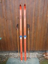 """New listing Ready to Use Cross Country 73"""" Trak 190 cm Snow Skis Waxless Base + Poles"""