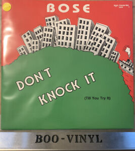 "B.O.S.E. - Don't Knock It (Till You Tried  12"" German Zyx Vinyl Hip Hop Ex / Ex"