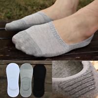 Men Women Cotton Invisible No Show Nonslip Loafer Boat Liner Low Cut Socks