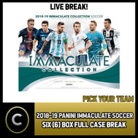 2018 PANINI IMMACULATE COLLECTION SOCCER 6 BOX CASE BREAK #S056 - PICK YOUR TEAM