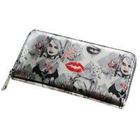 Arkham Knight Harley Quinn Zip Up Wallet Women Purse DFT-1943