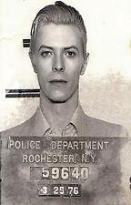 Paper Print Poster A4 David Bowie  for Glass Frame arrest photo mugshot
