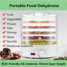 5 Trays Food Dehydrator Fruit Vegetable Meat Dryer Drying Machine 110V