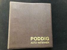PODDIG Auto.Antennen Einbaumappe Verkaufshelfer 1964 Einbauanleitungen 1954-1969