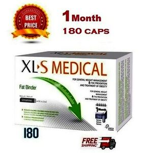 XLS MEDICAL FAT BINDER - WEIGHT LOSS SLIMMING - 180 CAPS ONE MONTH  SUPPLY