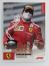 2021 Topps Now Formula 1 Carlos Sainz First Ferrari Podium F1 Card #12 In Hand