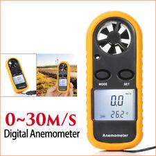 Mini Digital LCD Handheld Air Wind Speed Gauge Meter Anemometer Thermometer Test