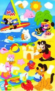 **RARE**  Maxi MICKEY & FRIENDS VACATION Sandylion Stickers ~DISNEY~NOT IN PRINT