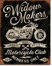 Widow Makers Club Bike Week Motorcycle Harley Indian Sturgis Metal Tin Sign New