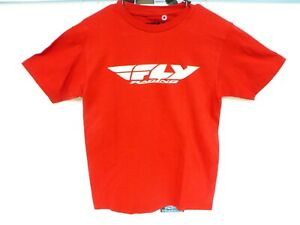 Fly Racing Men's Logo Red Short Sleeve Tee-Shirt Size Small S Sm
