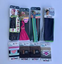 New lot Of 8 Items From Scunci Hair Ties And Active Headbands