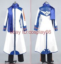 Vocaloid 2 Kaito White&blue Cosplay Costume Custom Any