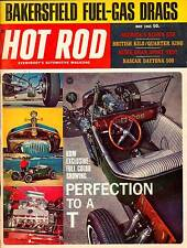 HOT ROD MAY 1965,NASCAR DAYTONA 500,BAKERSFIELD FUEL GAS DRAGS,HOTROD MAGAZINE