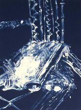 """Fritz Scholder """"Blue Altar"""" SIGNED ARTWORK Cliche-Verre Cyanotype SUBMIT OFFER"""