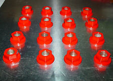 (16)10mm x 1.25 ATV Lug Nuts Honda Red Powder Coated Honda Yamaha Kawasaki