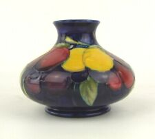 William Moorcroft Signed Wisteria Pattern Squat Vase - 1930's - Made in England.
