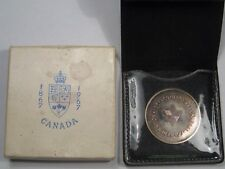 1967 Silver Canada Confederation Centennial Commemorative Silver Medal (Toned).