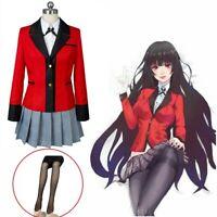 Kakegurui Compulsive Gambler Yumeko Jabami cosplay costume uniform CS
