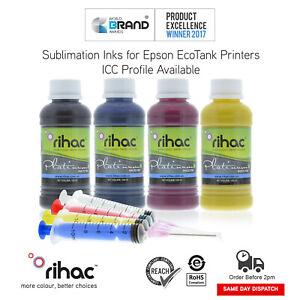 Dye Sublimation Ink for Epson EcoTank ET-1110 ET-2710 ET-2720 T522 + Syringe CIS