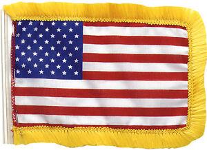 "Car Radio Antenna Flags Mini US Flag American Patriotic 4.5"" x 6"" Red White Blue"