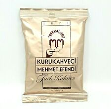 Turkish Coffee Ground Roasted Best Quality Beans Kurukahveci Mehmet Efendi 100g