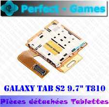 "Samsung galaxy S2 9,7"" T810 T815 lecteur connecteur micro SD reader flex cable"