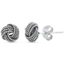 Braided Knot Studs .925 Sterling Silver Earring
