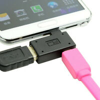 90D Right Angled Micro USB 2.0 OTG Host Adapter with USB Power for Galaxy S4 S5