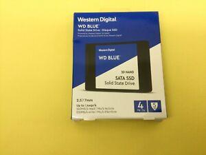 "WD Blue 4TB 6Gb/s SATA 2.5"" 3D NAND SSD WDS400T2B0A New Sealed"