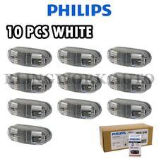 (WHITE) 10x Philips 12-24V MasterLife LED Bubble Side Marker Lamp Truck Trailer
