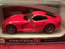 Maisto 2013 Dodge SRT Viper GTS   1/24 scale ,NIB 2019  release red exterior