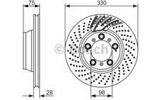 BOSCH Disco de freno (x1) 330mm ventilado SEAT LEON TOLEDO TOYOTA 0 986 479 581