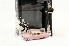 Set: Elvis Figur 1:18 + Cadillac Fleetwood Series 60 1955 pink 1:64 Greenlight