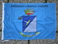 """Bandiera """"REGGIMENTO LOGISTICO FOLGORE"""" - PARACADUTISTI - Dim. (50X75) - Rarità"""