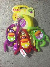 Sassy Monkey Rattle - Brand New
