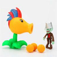 3pcs Set Plants vs Zombies Action Figure Shooter Toys For Children Kids Model