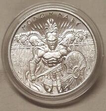 1oz The Spartan Warrior Molon Labe .999 Fine Silver Round Coin Come and Take it