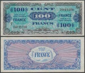 France - WWII Allied Military Currency, 100 Francs, 1944, VF+++, P-123(c)
