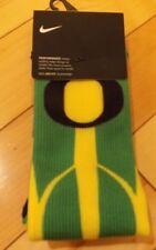 Men's 6-8 Womens 6-10 Oregon Ducks Basketball Socks Crew Green Yellow