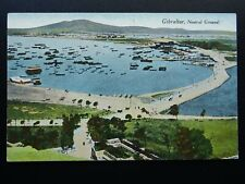 More details for gibraltar neutral ground - old rp postcard by millar & lang of glasgow